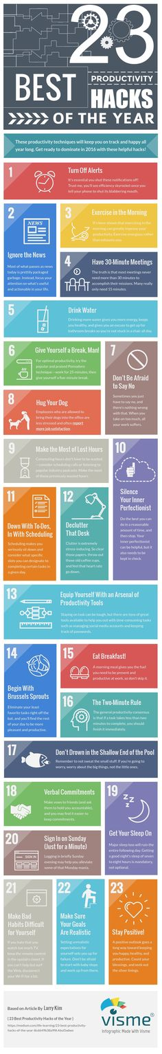 23 Best Productivity Hacks of the Year [Infographic]