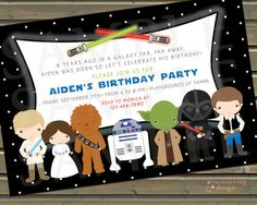 Star Wars 2 Birthday Party Invitations and/or by TwinspiringDesign