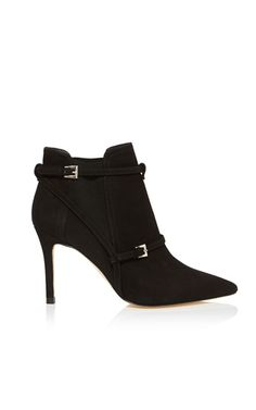 Suede pointed ankle boot