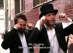 MRW my drug-head cousin who I havent seen in years asks me for money before even saying hi It's Always Sunny, Always Be, Movies Showing, Movies And Tv Shows, Reaction Pictures, Funny Pictures, Funny Images, Charlie Kelly, Bonito