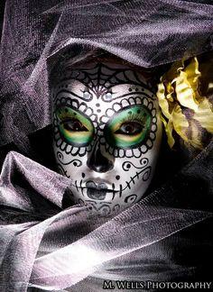 Sugar skull makeup !