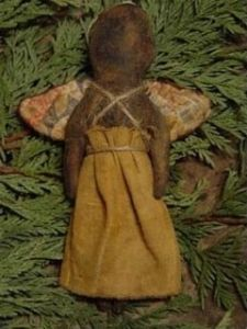 Black Folk Art Angel--can also be just tea dyed and not painted black