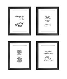 These kitchen prints. | 25 Cute Hip Hop Gifts That True Fans Need In Their Lives