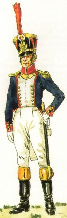 French Officier de Grenadiers 30e de Ligne 1813
