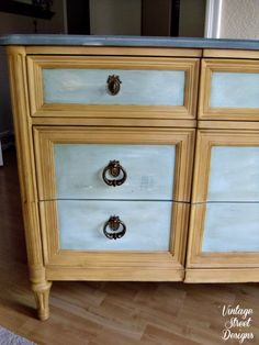 Matching An Inspiration Piece ~ Dresser Makeover | Mixing It Up With CeCe Caldwell's Paints