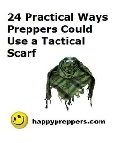 How to Tie & Use a Tactical Scarf: see the tutorial and learn 24 practical ways preppers could use a tactical scarf:  http://www.happypreppers.com/tactical-scarf.html