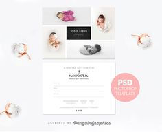 Gift certificate template newborn session photography gift card photography mini sessions photography gifts gift certificate template gift certificates psd templates adobe photoshop photo editing baby photos yadclub Image collections