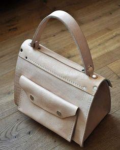Milk leather woman handbag by @burtsevbags
