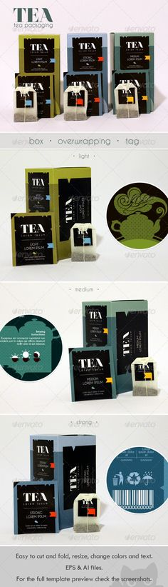 Modern Tea #Packaging Design - Packaging Print #Templates Download here: https://graphicriver.net/item/modern-tea-packaging-design/8193191?ref=alena994