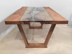 This CANYON table began as a gorgeous single slab of pippy oak and we think it w. This CANYON table began as a gorgeous single slab of pippy oak and we think it would have been rude to do anything b