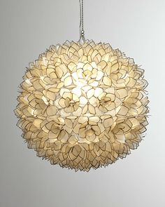 Capiz-Shell Pendant Light