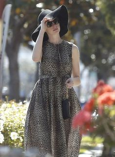 Anne Hathaway  in West Hollywood, California on April 28, 2014.