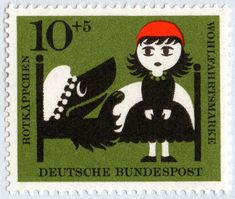 … in Germany, there was a series of stamps based on classic Fairy Tales. Lo & behold for here they are.