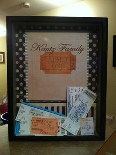 Can't wait to do this with all of our movie tickets!
