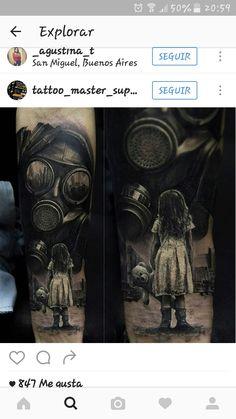 Tattoos for men Army Tattoos, Up Tattoos, Skull Tattoos, Future Tattoos, Life Tattoos, Tattoos For Guys, Tattoo Uk, War Tattoo, Apocalypse Tattoo