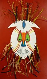 Materials:  - Tagboard  - Raffia  - Markers  - Pencil  - Scissors  - Hole Punch  - African Mask Tracer  - Scissors  - African Mask Examples ...