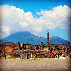 Bright blue skies over Pompeii. Photo courtesy of poohstraveler on Instagram.