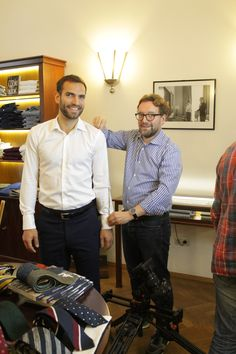 We are always happy to have olimpic champion Aron Szilagyi in the shop. Men's Fashion Brands, Bespoke Tailoring, Gentleman, Champion, Menswear, Happy, Pants, Shopping, Collection