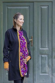 4 in1 babywearing coat orange-purple-fox – NANA wear