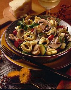 Tortellini with Mushrooms, Zucchini and Bell Pepper | Mushroom Info - Mushroom Lovers' Earth Day Recipe #7