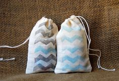 Set of 10 Wedding Favor Bags  Hand Stamped Natural by TheFindSac, $10.00