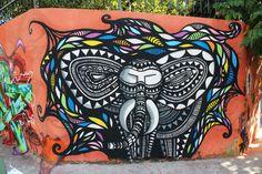 Val Lehmann Street Art Melbourne, The Mind's Eye, Unusual Art, Public Art, Artsy Fartsy, Cool Art, Graffiti, Elephant, Concept