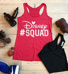 Mothers Day Gift. Castle Squad Bella Canvas Flowy Tank Womens Eco Tri-Blend Tanks Disney Squad Team Hand Screen Printed With Eco Ink Women Clothing