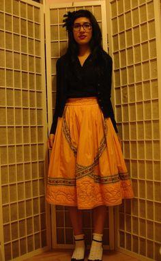Full embroidered skirt