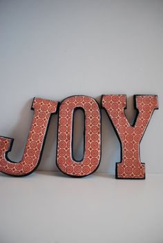 "Reserved For Dearab1 -wooden Christmas Decoration - ""joy"""