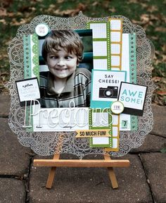 Wendy shares this adorable layout using Clear Scraps acrylic. http://www.clearscraps.com/product_p/csxldeco.htm