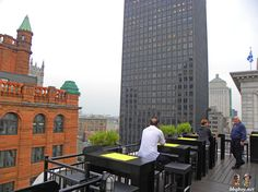 views from Le Place D'Armes Hotel, Montreal
