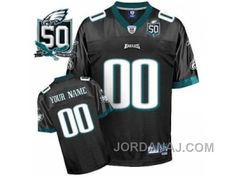 http://www.jordanaj.com/customized-philadelphia-eagles-jersey-eqt-black-with-team-50th-patch-football-jeseys.html CUSTOMIZED PHILADELPHIA EAGLES JERSEY EQT BLACK WITH TEAM 50TH PATCH FOOTBALL JESEYS Only $60.00 , Free Shipping!