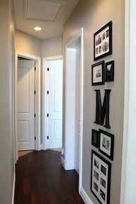 picture arrangement in hallway ideas - Google Search