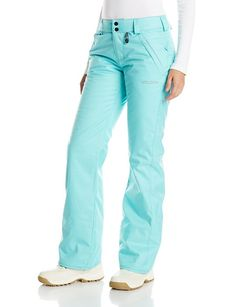 Volcom Womens Frochickie Insulated Chino Fit Snow Pant, Glacier Blue, Large