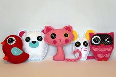 Mascotes Lalaloopsy em feltro.