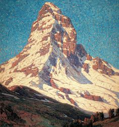 mountain-art: The Matterhorn from Zermatt by Edgar Payne Western Landscape, Mountain Landscape, Landscape Art, Landscape Paintings, Missouri, Meaningful Paintings, Edgar Payne, American Impressionism, Painting Snow