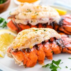Boiled Lobster Tail Recipe, Lobster Tail Oven, Grill Lobster Tail Recipe, Baked Lobster Tails, Grilled Lobster, Stuffed Lobster Tail, How To Prepare Lobster, How To Grill Lobster