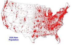 This kind of puts Chubbuck Idaho into perspective. USA Ham Population