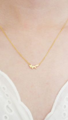 Fox Necklace Animal Pendant Silver/ Gold Plated Small http://www.vannajewelry.com/product-category/necklaces/