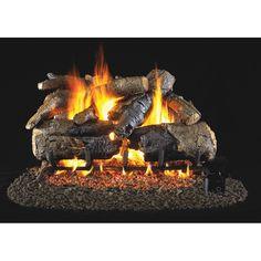 empire sassafras refractory ventless gas log set ventless gas logs rh pinterest com