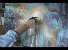 Pintando un abstracto expresionista - YouTube