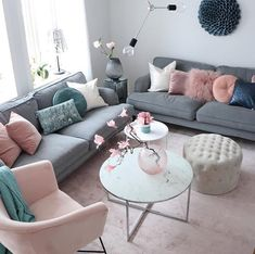 room setup living room chairs living room living room colors room interior design living room ideas living room furniture size rug for living room Pink Living Room, Blush Pink Living Room, Living Room Decor Apartment, Room Interior, Apartment Living Room, Trendy Living Rooms, Living Room Interior, Living Room Grey, Living Decor