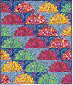 For patchwork and quilting : Kaffee Fassett - Fan Dance - Fan Dance - Kaffe Fassett Collective Spring 2017 Designed by Linda and Carl Sullivan . Dresden Plate Patterns, Quilt Block Patterns, Quilt Blocks, Dresden Quilt, Colorful Quilts, Scrappy Quilts, Amish Quilts, Easy Quilts, Quilting Designs