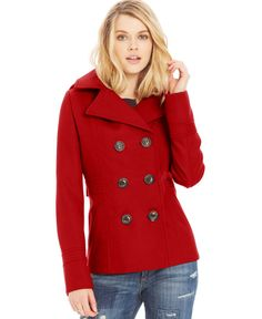 Kenneth Cole Plus Size Double-Breasted Pea Coat | Products