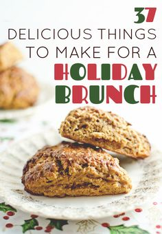 37 Delicious Things To Make For A Holiday Brunch Christmas Morning, Christmas Brunch, Christmas Baking, Winter Christmas, Christmas Ideas, Brunch Menu, Brunch Recipes, Breakfast Recipes, Brunch Party