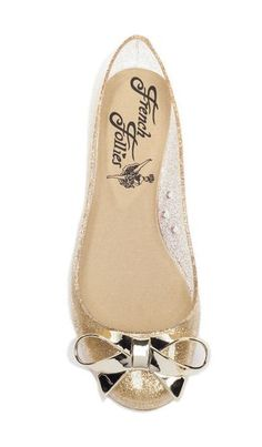 Gold Bow Jelly Flats <3 cUte! where can i get this?!