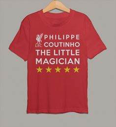 Philippe Coutinho The Little Magician on official Liverpool FC Kid's T-Shirt