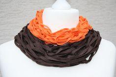 Weiteres - Schlauchschal Loop Scoodie braun orange Tuch  - ein Designerstück von trixies-zauberhafte-Welten bei DaWanda