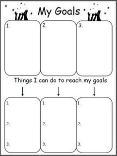 Free Goal Worksheet.  My class is really into meeting goals this year.  I am going to do this!