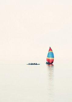 Sailing solo .